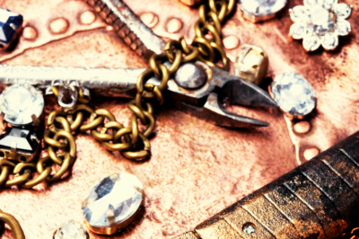 making jewelry.