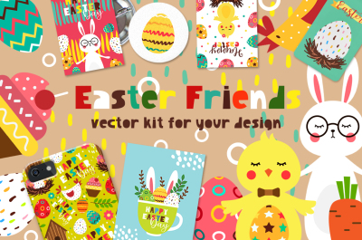 Easter Friends - Vector kit