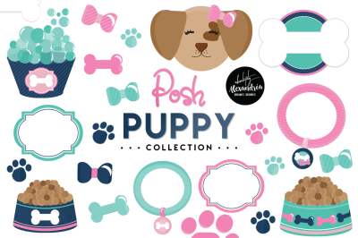 Posh Puppy Graphics & Patterns Bundle