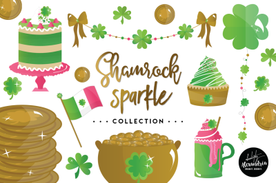 Shamrock Sparkle Graphics & Patterns Bundle