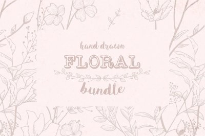Floral Bundle ~ Illustrations, Patterns, Brushes, Watercolor and more