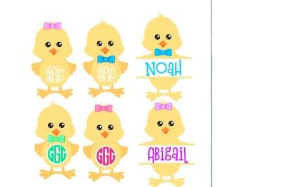 Easter chick svg, easter monogram, easter svg, easter shirt, easter de