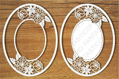 Ornamental Frame (10) SVG files for Silhouette Cameo and Cricut.