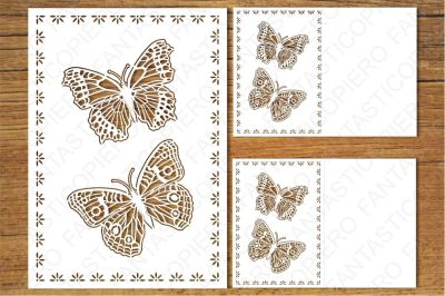 Greeting Card with Butterflies SVG files