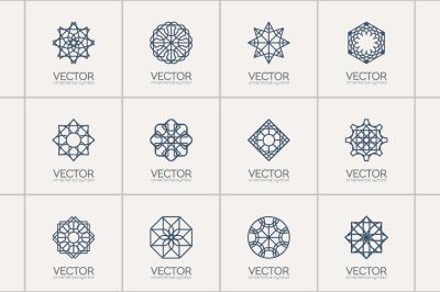 12 Geometric Logo Templates