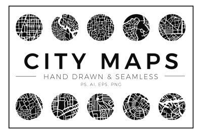 Abstract City Map Patterns