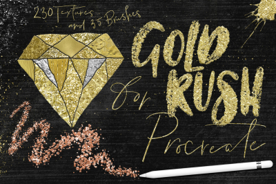 Gold Rush for Procreate