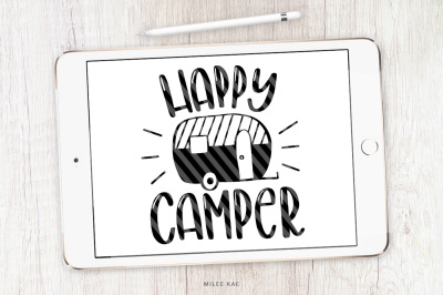 Happy Camper SVG, cutting file and decal
