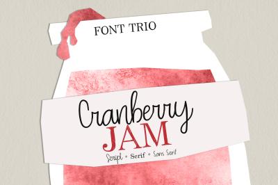 Cranberry Jam Font Trio