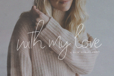 With My Love Script Font