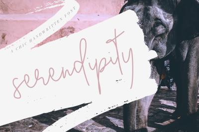 Serendipity - Chic Handwritten Font