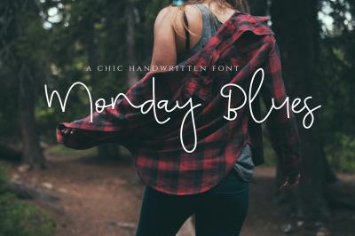 Monday Blues - Chic Handwritten Script