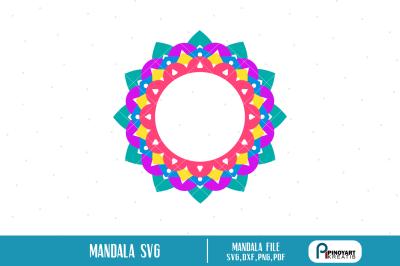 mandala svg file,monogram frame svg file,monogram svg,monogram dxf,svg