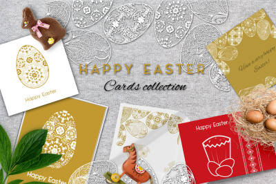 Happy Easter Gold Cards Collection