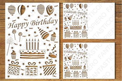 Happy Birthday card SVG files