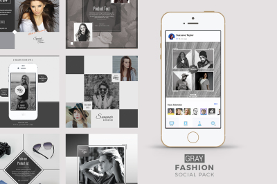 Gray Fashion Social Media Pack