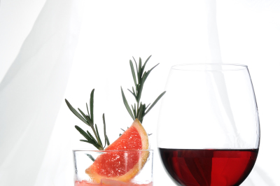 drinks on a table on a light background