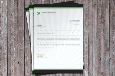 Corporate Business Letter Head Template