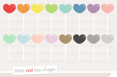 Heart Lollipop Clipart