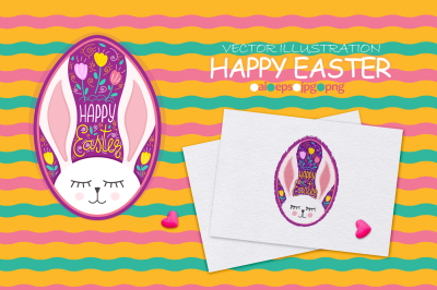 Vector illustration Happy Easter