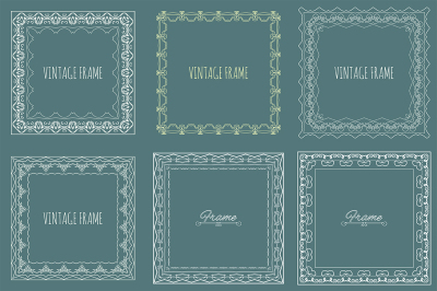 Set of vector decorative frames