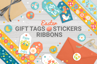 Easter Gift Tags, Stickers, Tapes