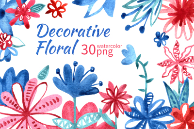 Decorative floral set