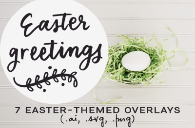 Easter inspired overlays
