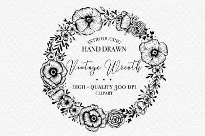 Hand Drawn Wreath - PNG Clipart