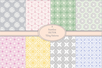 Seamless Vector Pastel Pattern Set
