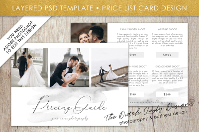 PSD Photo Price Card Template #13