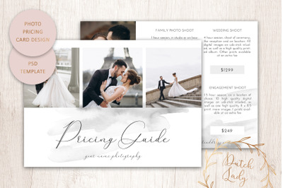 PSD Photo Price Card Template #13