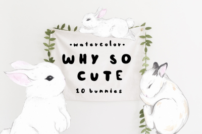 Easter! WHY SO CUTE: 10 watercolor bunnies