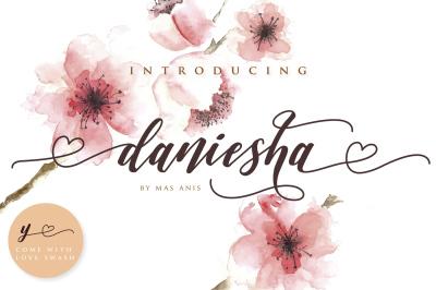 Daniesha - Lovely Font
