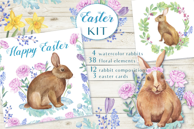 Watercolor Easter Kit