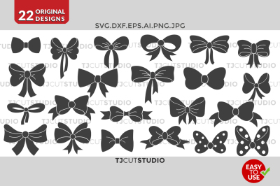 Bow svg collection, Files for Silhouette Cameo or Cricut