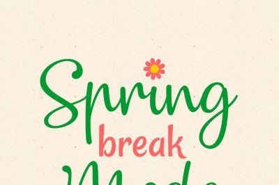 Spring Breakw