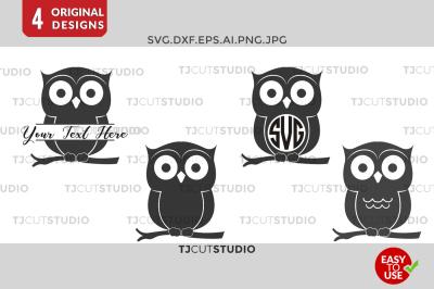 Owl SVG, Owl Monogram , Owls Monogram, Monogram Owl.