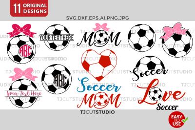Soccer Monogram svg, Soccer SVG, Soccer Mom SVG.