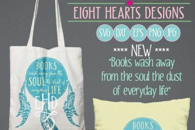 Books Wash Away -  Includes SVG, DXF, EPS and PNG