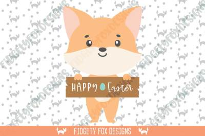 Fox Easter Sign Svg Dxf Cutting file for cameo and cricut