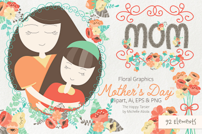 Mother's Day Clipart and Vector Graphics