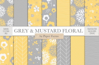 Grey and mustard patterns