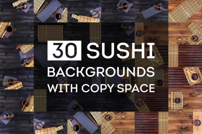 Sushi backgrounds bundle