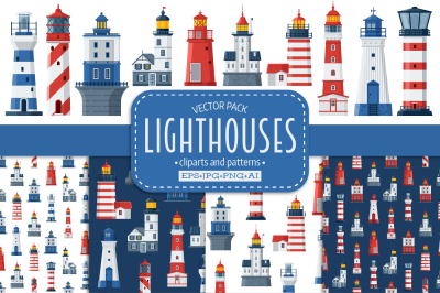 Lighthouse Icons and Patterns