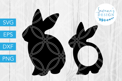 Bunny SVG, Rabbit SVG, Easter SVG, Monogram SVG, Easter Bunny SVG