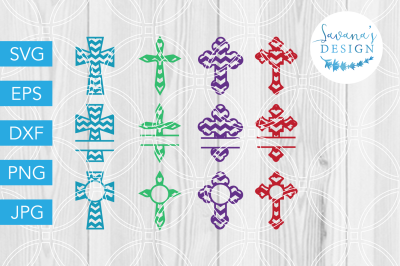 Cross SVG, Chevron SVG, SVG Bundle, Monogram Cross, SVG Files, SVG