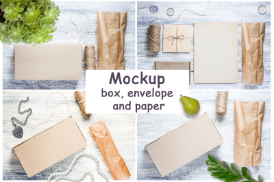 Amber Plastic Bottle Paper Box Mockup