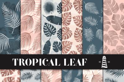 Palm Leaf Patterns - Tropical Backgrounds