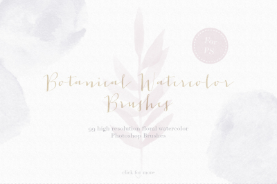 Botanical Watercolor Photoshop Brush set